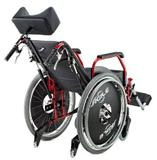 Cadeira de Rodas Alumínio 44cm Ágile Reclinável Preta - BAXMANN E JAGUARIBE - Baxmann  jaguaribe