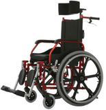 Cadeira de Rodas Aluminio 44cm Fit Reclinável Vinho - BAXMANN E JAGUARIBE - Baxmann  jaguaribe