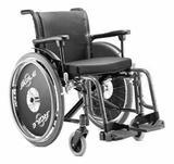 Cadeira de Rodas Alumínio Ágile 36cm Preta - BAXMANN E JAGUARIBE - Baxmann  jaguaribe