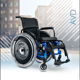 Cadeira de Rodas Alumínio AVD Ortobras Dobrável em X 2638b8 44cm