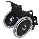 Cadeira de Rodas Alumínio AVD Ortobras Dobrável em X FF6A00 40cm