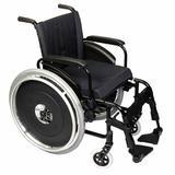 Cadeira de Rodas Alumínio AVD Ortobras Dobrável em X preto 40cm
