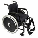 Cadeira de Rodas Alumínio AVD Ortobras Dobrável em X preto 50cm