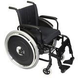 Cadeira de Rodas Alumínio AVD Ortobras Dobrável em X Tamanho: 44cm - Cor: Preto