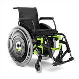 Cadeira de Rodas Alumínio AVD Ortobras Dobrável em X verde folha 40cm