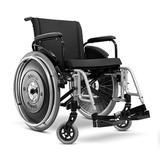 Cadeira de Rodas Alumínio ULX Ortobras Super Resistente Dobrável em Duplo X
