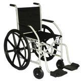 Cadeira de rodas com Pneu Maciço (Roda em Nylon) Dobrável em X CDS
