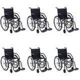 Cadeira De Rodas Dobrável Pneus Maciços 85kg (Kit C/06) - Outros