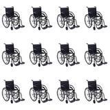 Cadeira De Rodas Dobrável Pneus Maciços 85kg (Kit C/12) - Outros