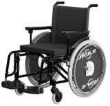 Cadeira de Rodas Jaguaribe Ágile Adulto Preta - Marca