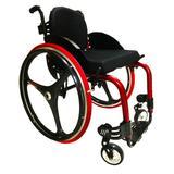 Cadeira de Rodas Monobloco M3 Premium Ortobras Alumínio com Encosto Rígido Hummel e Rodas X-Core
