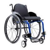 Cadeira de Rodas Monobloco M3 Premium Ortobras Alumínio Peso Leve com Encosto Rígido Hummel azul glacial 40cm