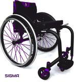 Cadeira de Rodas Monobloco Sigma Smart Alumínio com Assento e Encosto Rígido