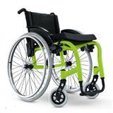 Cadeira de Rodas Monobloco Star Lite Ortobras Alumínio Peso Leve verde folha 40cm