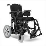 Cadeira de Rodas Motorizada Elétrica E4 ULX Ortobras com Encosto Rígido Hummel preto 40cm
