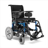 Cadeira de Rodas Motorizada Elétrica E5 Ortobras Dobrável Alumínio branco 48cm