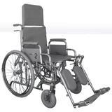 Cadeira de Rodas Reclinável Comfort Cromada