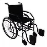 Cadeira De Rodas Semi Obeso CDS 101 Pneus Maciços Preto