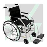 Cadeira de Rodas Simples com Pneu Maciço CDS Dobrável