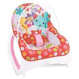 Cadeira Descanso Safari Musical com Balanço Vermelha Color Baby