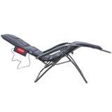 Cadeira Espreguiçadeira Massageadora 10 Motores Bivolt - Reclinável 21 posições - preto - Bivolt - Tsuyoi