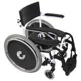 Cadeira Higiênica de Banho com Rodas Grandes e Encosto Rígido H1 Ortobras