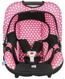 Cadeira para Auto 0 a 13kgs Bebê Conforto Rosa Pink Bolinha Protek Baby