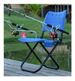 Cadeira para Pesca Completa com Suporte de Varas Porta Isca e Lata - Gear