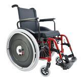 Cadeira Rodas Ma3s Vermelho Metalico 44x40x40 Ortomobil - Ortomobil ind