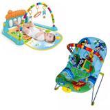 Cadeirinha balanço e tapete de atividades musical piano azul - Color baby