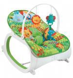 cadeirinha de bebê descanso musical vibratória safári verde - Color baby