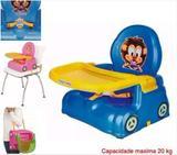 Cadeirinha Papinha Azul Portátil com bandeja ajustável e removível - Magic Toys Oferta - Magictoys