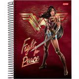 Caderno 10x1 capa dura 2020 mulher maravilha 200fls. pct.c/04 - Jandaia