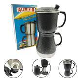 Cafeteira Italiana Econômica Alumínio Forte com Filtro Preta - Alumínio extra forte