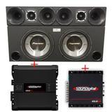 Caixa com 2 Sub Pioneer Ts-W3060br + Corneteira + Módulos Soundigital - Vinisound +