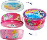Caixa De Lata Com Divisória Princesas Disney - Coml wei
