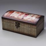 Caixa de Madeira com Desenho Oriental - Prestige