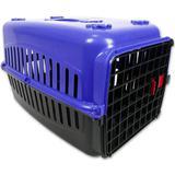 Caixa De Transporte Alça Porta Gatos Coelhos AZUL/PRETA N2 - Rb