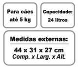 Caixa De Transporte Cachorro E Gato Panther Nº1 - Plast pet