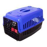 Caixa de Transporte Cachorro n2 Tampa Azul - Rb pet