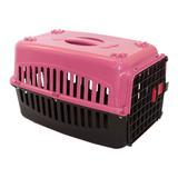 Caixa de Transporte Cachorro n2 Tampa Rosa - Rb