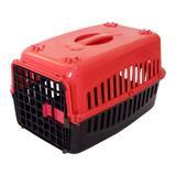 Caixa de Transporte Cachorro n2 Tampa Vermelha - Rb pet