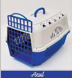 Caixa de Transporte Cães e Gatos Nº 2 Cor Azul - Durapets