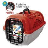 Caixa de Transporte Cães Panther Pop Nº 4 Vermelha - Plast pet