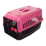 Caixa de transporte Gatos n1 Tampa Rosa - Rb pet