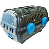 Caixa de transporte luxo furacão pet black com azul n01