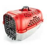 Caixa de Transporte Panther Nº 1 Vermelha + Pote - Plast pet