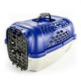 Caixa de Transporte Panther Nº 2 Azul + Pote - Plast pet
