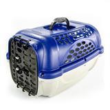 Caixa de Transporte Panther Nº 3 Azul + Pote - Plast pet