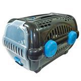 Caixa de Transporte Para Cachorro - Furacão Pet - Luxo - Tamanho 1 - Black com Azul